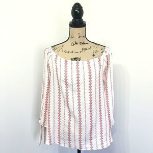 Sweet Wanderer L Large Shirt White Red